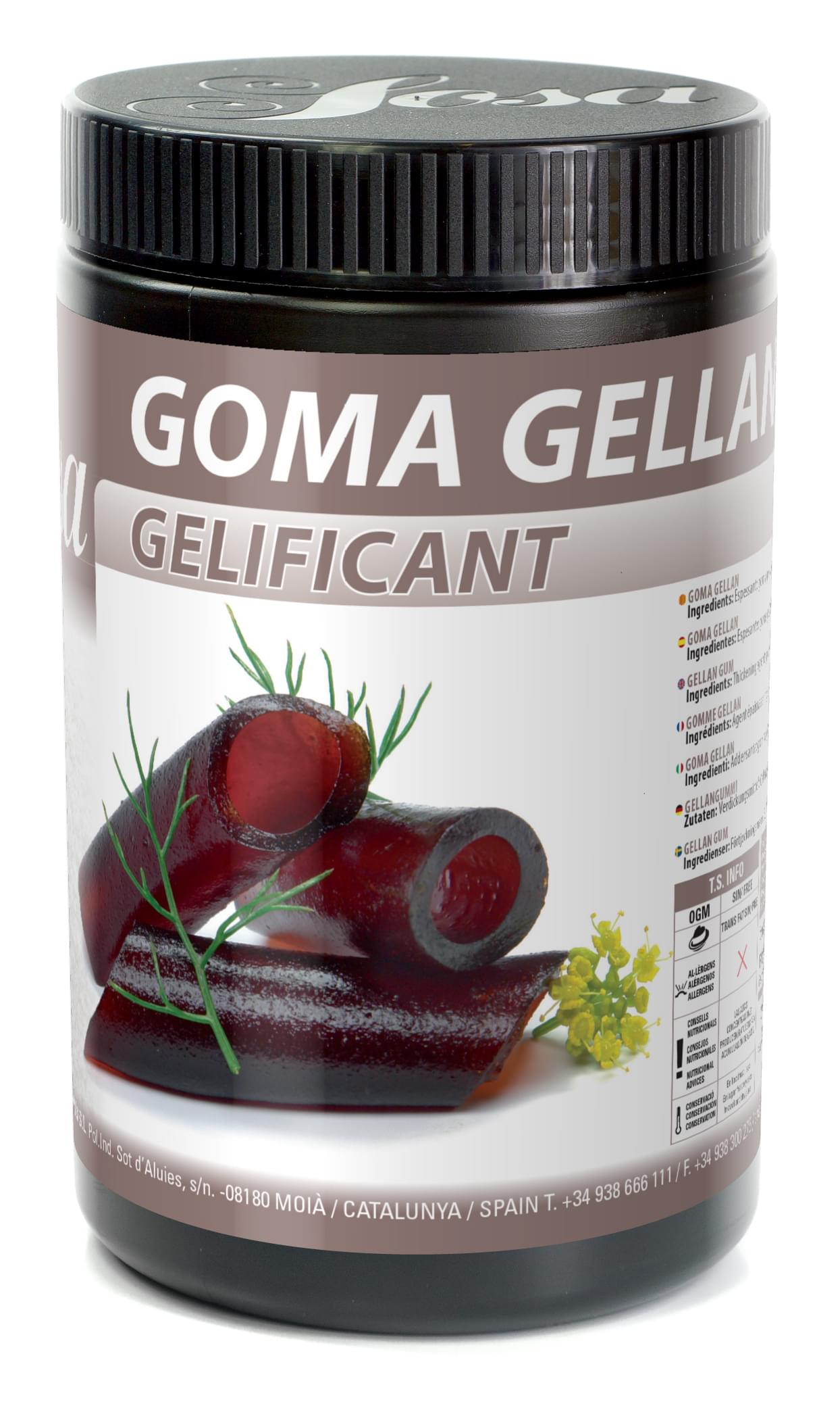 Gomme Gellan Gelcrem Sosa Ingredients France